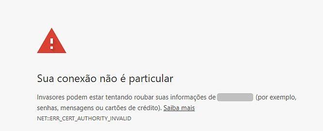 exemplo de site não seguro